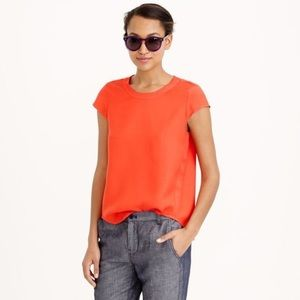 JCrew drapey oxford crepe top